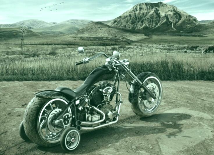 motociclista novato